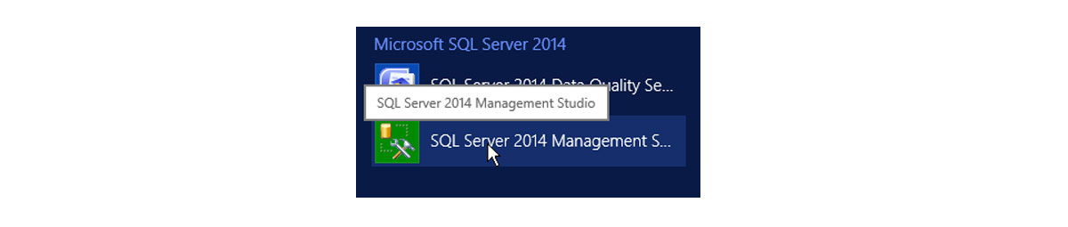 Рис.8 SQL Server 2014 Management Studio