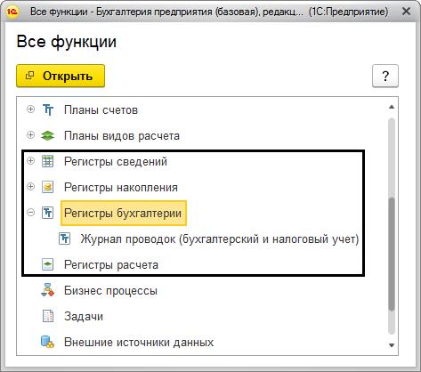 Регистры бухгалтерии 1с программа документы для регистрации ооо